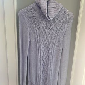 cable knit turtleneck tunic